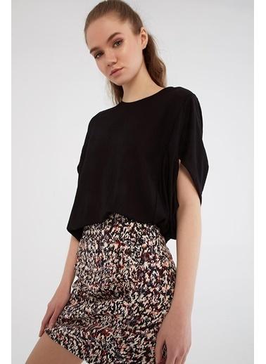 Modaset Yarasa Kol Bluz  Siyah